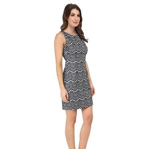 Jessica Simpson Black and White Lace Dress